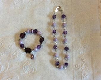 AG Necklace and Bracelet Set
