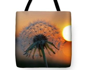 Danedlion Tote Bag, Grocery Tote Bag, Farmers market, Summer Tote Bag, Sunset Tote Bag, Salem Tote Bag