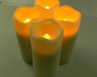 3-inch Votive Candles.  Battery-operated candles with a built-in timer.  Very limited supplies remain.