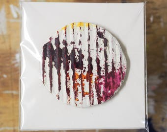 Corrugated Circle Painting I (extra small)