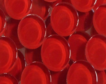 Red 20mm Crystal Round Tiles