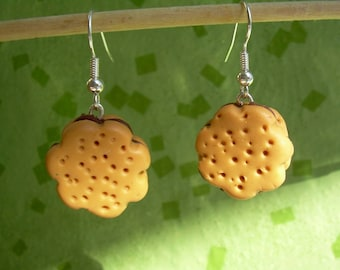 Earrings gourmet choco biscuit chocolate