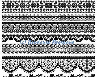 Black Lace - embroidery pattern