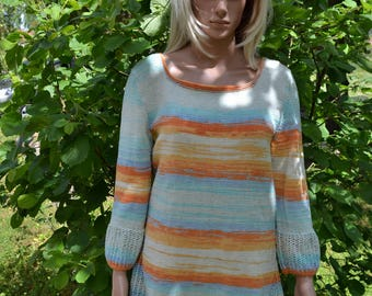 hand knitted cotton tuniqu