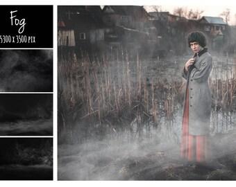 Fog Overlays, Smoke, Photoshop overlay, Realistic Fog, Mist Overlays, Clouds Effect