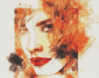 Fire Cross Stitch Kit, The Elements Fire 2 Cross Stitch, Embroidery Kit, Art Cross Stitch, Woman Cross Stitch