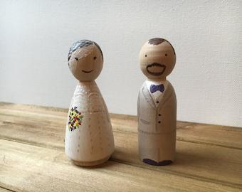 Custom Bride/Groom Peg People