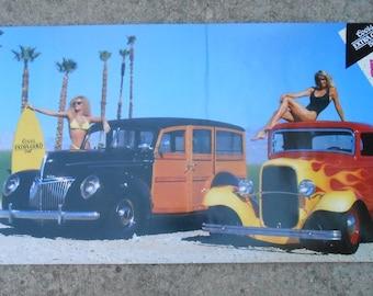 Vintage Coors Dragster Hot Rod Poster 1989