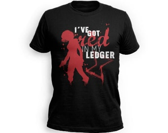 Red Ledger T-Shirt - Unisex slim fit in red black and white