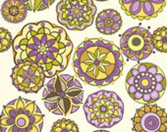 Riley Blake Designs Fiona's Fancy Orchid Floral fabric - 1 yard 33 inches- Last Piece