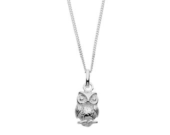 925 Silver Owl Necklace   Gifts for women