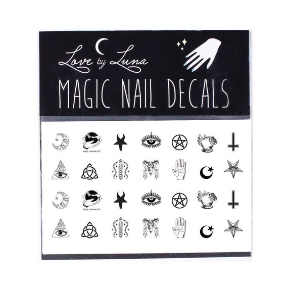 Occult Nail Decals / Symbols Nail Decal / Witch Nail Decal / Magic ...