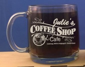 Personalized 13 oz. Coffee or Tea Mug-Wedding Gift-Anniversary Gift-Mothers Day-Birthday Gift-Engraved coffee mug-Coffee cup-free engraving