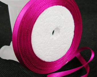 The meter Fuchsia satin ribbon