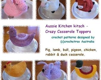Crazy Casserole Pot Toppers - Crochet pattern