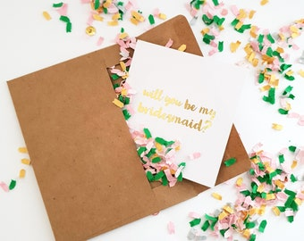 Custom bridesmaid proposal confetti cards!