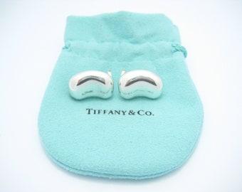 Tiffany & Co. Sterling Silver Elsa Peretti Large Bean Clip On Earrings
