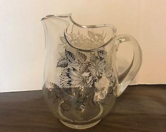 Heisy glass pitcher