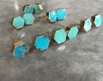 Turquoise Earrings, boho style
