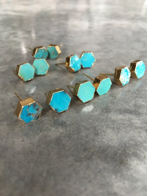 Turquoise Earrings, boho style