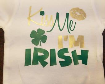 Kiss Me I'm Irish bodysuit/onesie