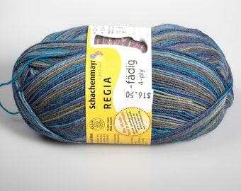 Regia 4-fadig yarn - sock yarn - knitting yarn - luxury destash - camouflage colors - free shipping