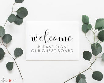 Please Sign Our Guest Board Printable. Please Sign Our Guest Board Sign. Guest Board. Wedding Guest Book Alternative. Please Sign. Wedding.