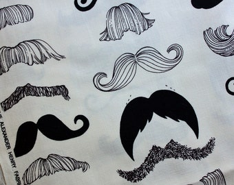 Alexander Henry - Where's My Stache fabric - 1 yd