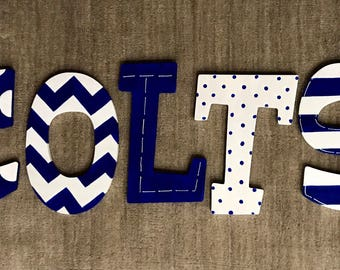 Colts Handpainted Wooden Letters