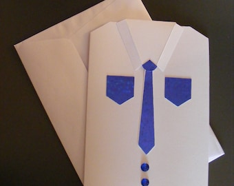 """Blue tie"" men's Party or birthday card"