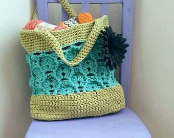 Wheat Fields Market Tote Crochet Pattern *PDF FILE ONLY* Instant Download