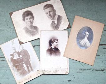 Antique Edwardian Tintype Photo Lot