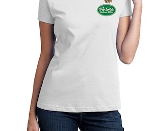 Merlotte's Bar and Grill Waitress, Fruit of the Loom, Direct to Garment, Women's T-Shirt in White