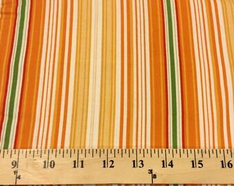 Flutter Orange -  1 Yard Cut - Riley Blake Designs - Cotton Fabric - Orange Fabric - Stripe Fabric