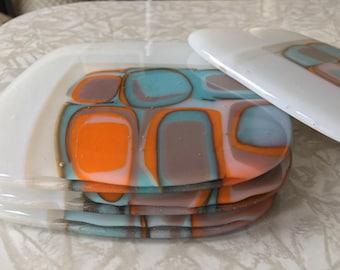 Glass Coasters, Set of 4