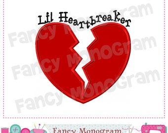 Valentine applique,Valentine's day,Valentine design,Lil Heart breaker.
