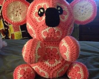 African Flower Koala Crochet PATTERN