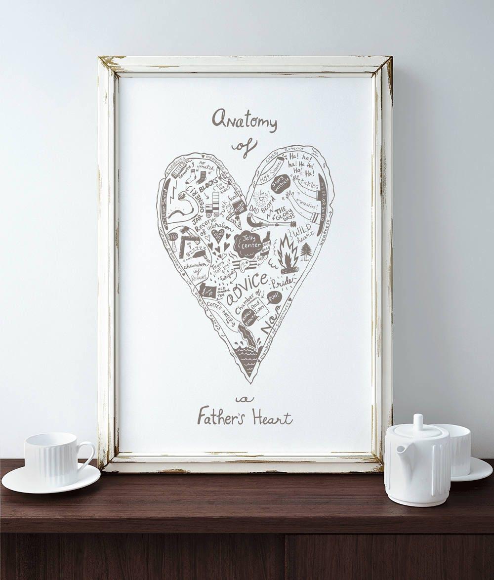 Father\'s Heart Silkscreen print Heart Dad Father standard