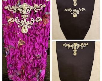 Rococo Arabesque Stomacher Jewels - 18th Century Stomacher Jewelry - Marie Antoinette Jewelry - Versailles - Georgian Paste - Bodice Jewelry