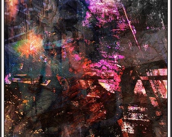 Magnetic epigrams - pigment draw (HDR) - 30 limited series