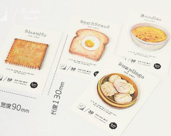 Breakfast sticky notes -Sticky Notes, Medical Plaster Post It Notes, Reminder Notes, Memo Pad Stickers, Planner Page Marker Stickers
