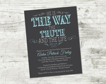 First Communion Invitation, Printable