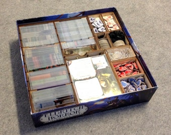 Eldritch Horror board game, wood insert to store all components, storage solution