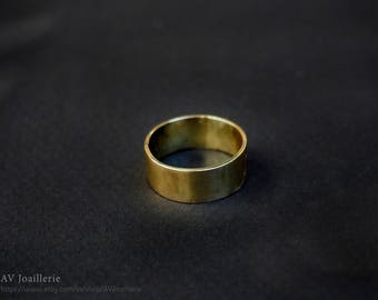 Simple Ring in Brass and coated in Varnish polish / / gift for her / / gift for him.