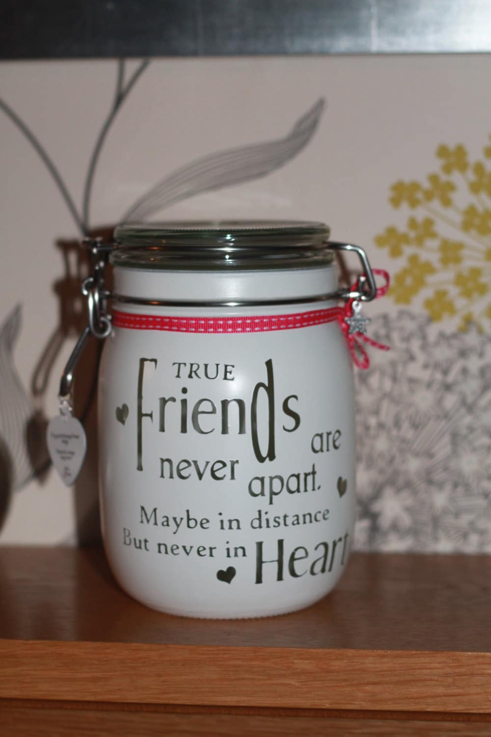 personalized candle glass memory jar true friends are never. Black Bedroom Furniture Sets. Home Design Ideas
