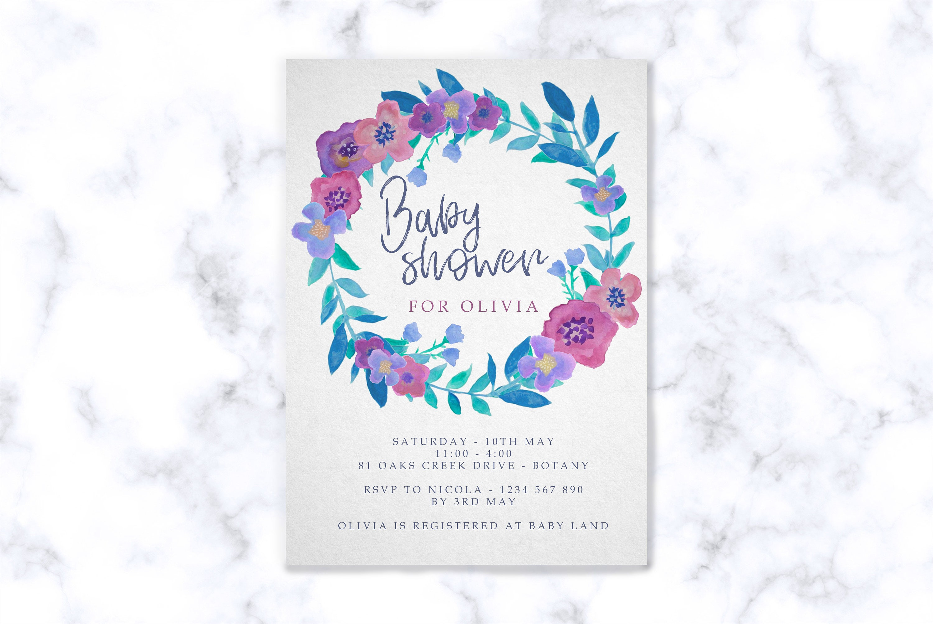 Printable baby shower invitations instant downloadable editable pdf filmwisefo