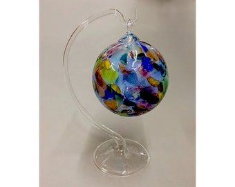 Clear Glass Ornament Hanger - Ornament not included