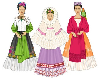 Frida Digital Paper Doll Set