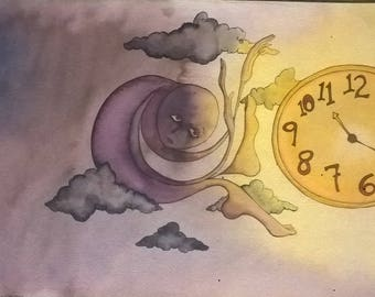 Time - Original Watercolor Print