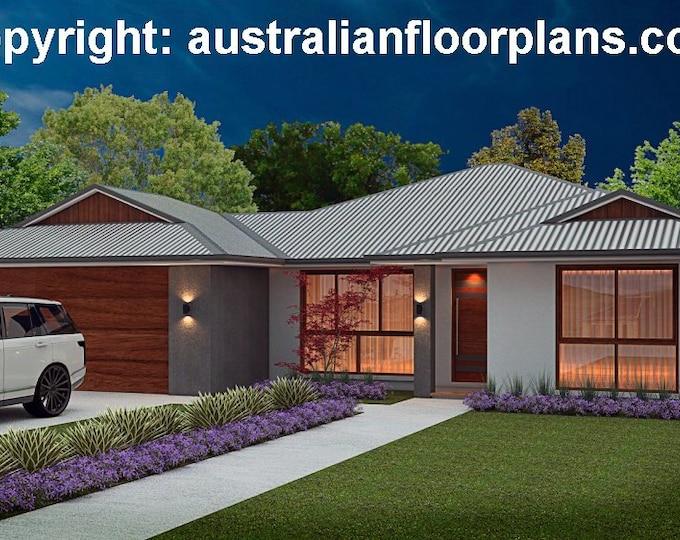 189 m2 | 4 Bedroom | 2 Bathroom Family | Home Plans |  4 Bedroom  design |  4 bed floor plans | 4 bed blueprints | 4 bed plus 2 bath plans